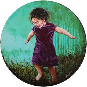 mor elbiseli kız