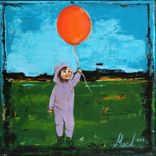 balonlu cocuk