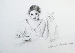 kedi ve kahve saati