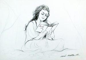 kıtap okuyan kız