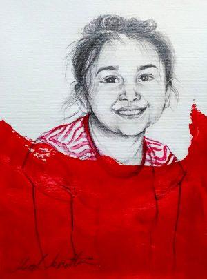 kırmızılı kız