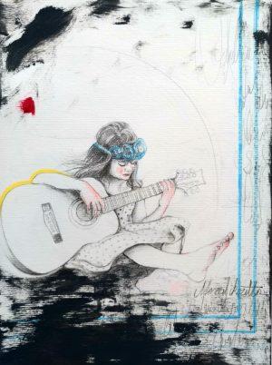 Gitar calan kız